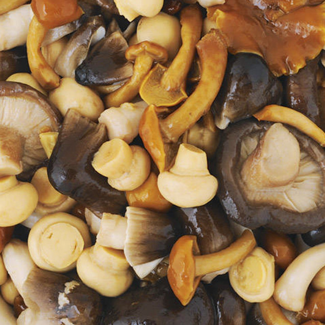 Marinated mixed mushrooms